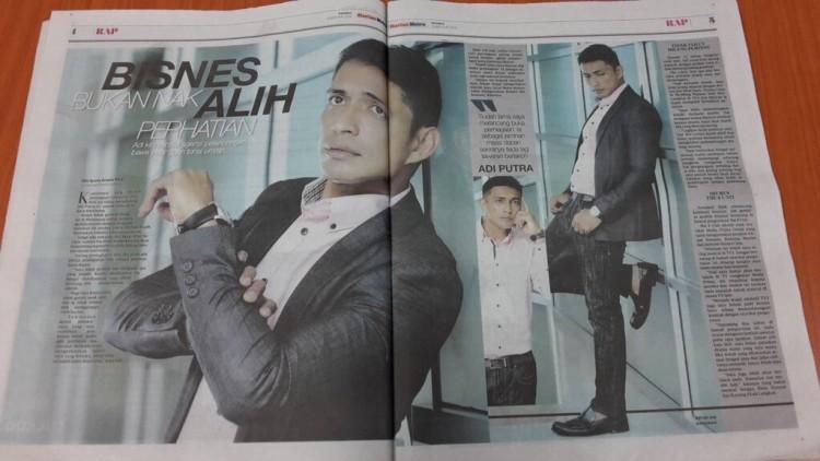 berita Adi Putra di Harian Metro