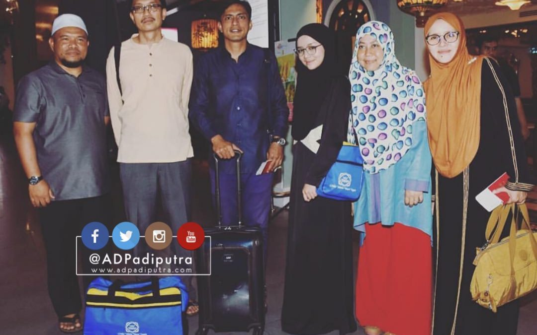 Adi Putra dan Mira Filzah berangkat ke Mekah mengerjakan umrah