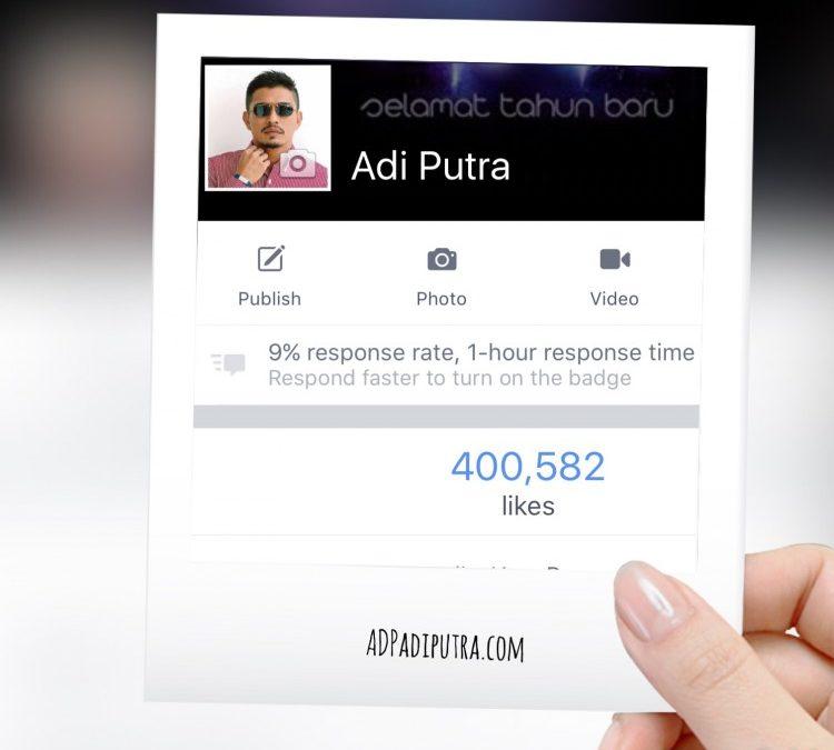 Facebook Fanpage cecah 400K